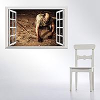 Наклейки на стену, PVC-пластик, Прямоугольная форма, Хэллоуин ювелирные изделия & 3D & водонепроницаемый, 485x680mm, продается указан