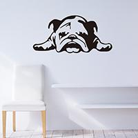 Наклейки на стену, PVC-пластик, Собака, водонепроницаемый, 570x270mm, продается указан