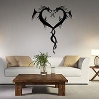 Наклейки на стену, PVC-пластик, Сердце, водонепроницаемый, 570x685mm, продается указан