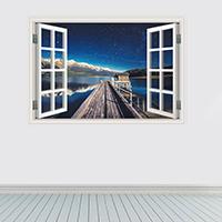 Наклейки на стену, PVC-пластик, Прямоугольная форма, 3D & водонепроницаемый, 600x900mm, продается указан