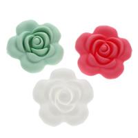 Бусины из полимерной глины, полимерный клей, Форма цветка, Много цветов для выбора, 40x40x14mm, отверстие:Приблизительно 1.5mm, 10ПК/сумка, продается сумка