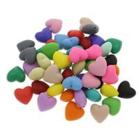 Бусины из полимерной глины, полимерный клей, Сердце, Много цветов для выбора, 20x19x11mm, отверстие:Приблизительно 1.5mm, 100ПК/сумка, продается сумка
