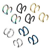 Модные серьги каффы, нержавеющая сталь, Другое покрытие, Женский, Много цветов для выбора, 9x10x11mm, 1.2mm, продается Пара