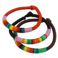 Нейлоновый шнуровой браслет, Нейлоновый шнурок, Много цветов для выбора, 7x20mm, Продан через Приблизительно 7.5 дюймовый Strand