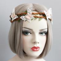 заставка, Тростник, с Кружево & ткань & Сатиновая лента, Женский, 400mm, продается PC