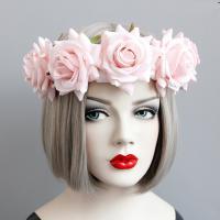 заставка, ткань, с Сатиновая лента, Форма цветка, Женский, Много цветов для выбора, 400mm, продается PC