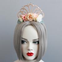 Резинки для волос, Войлок, с Кружево & ткань & Канифольные кристаллы & Железо, Корона, Женский, 90mm, продается PC