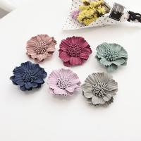 ткань Аксессуары для волос DIY Результаты, Форма цветка, Много цветов для выбора, 35mm, 20ПК/сумка, продается сумка