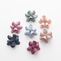 ткань Аксессуары для волос DIY Результаты, Форма цветка, Много цветов для выбора, 30mm, 50ПК/сумка, продается сумка