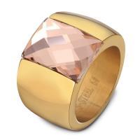 Кольца с кристаллами, титан, с Кристаллы, Другое покрытие, разный размер для выбора & Женский, Много цветов для выбора, 14x10x2mm, продается PC