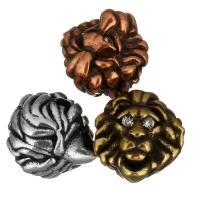 Кубический цирконий микро проложить латунные бусины, Латунь, Лев, Другое покрытие, инкрустированное микро кубического циркония, Много цветов для выбора, 10x11x10.50mm, отверстие:Приблизительно 2mm, 20ПК/Лот, продается Лот