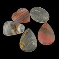 Подвески из кварца, вишневый кварц, разнообразный, 36x47x6mm-37x56x6mm, отверстие:Приблизительно 2mm, 5ПК/сумка, продается сумка