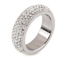 Кольца с кристаллами, титан, с Кристаллы, разный размер для выбора & Женский, оригинальный цвет, 6mm, продается PC