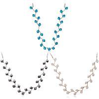 Кристалл ожерелье с цинковым сплавом, цинковый сплав, с Кристаллы, с 2.2inch наполнитель цепи, Другое покрытие, Женский, Много цветов для выбора, 7.5mm, Продан через Приблизительно 17.5 дюймовый Strand