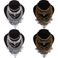 Кристалл ожерелье с цинковым сплавом, цинковый сплав, с Кристаллы, с 2inch наполнитель цепи, Другое покрытие, Женский & граненый & со стразами, Много цветов для выбора, не содержит никель, свинец, 160x200mm, Продан через Приблизительно 17.7 дюймовый Strand