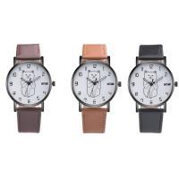 Часы унисекс, с Стеклянный & нержавеющая сталь & цинковый сплав, черный покрытием, Мужская, Много цветов для выбора, 37x7mm, длина:Приблизительно 9 дюймовый, продается PC
