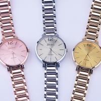 Часы унисекс, цинковый сплав, с Стеклянный, Другое покрытие, Мужская, Много цветов для выбора, 39x8mm, длина:Приблизительно 9 дюймовый, продается PC
