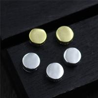Коннекторы из серебра , Серебро 925 пробы, Плоская круглая форма, Другое покрытие, Многоканальный, Много цветов для выбора, 4.80x2.20mm, отверстие:Приблизительно 1mm, 10ПК/Лот, продается Лот
