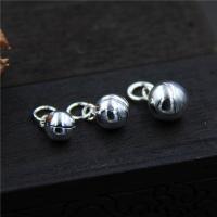 Серебро 925 пробы Белл Шарм, разный размер для выбора, отверстие:Приблизительно 2-3mm, 10ПК/Лот, продается Лот