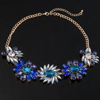 Ожерелья из стекла, цинковый сплав, с Стеклянный, плакирован золотом, Женский, не содержит свинец и кадмий, 47mm, Продан через Приблизительно 17 дюймовый Strand