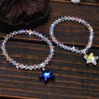 Австрийский хрусталь браслет, Морская звезда, Женский & граненый, Много цветов для выбора, 16mm, Продан через Приблизительно 6 дюймовый Strand