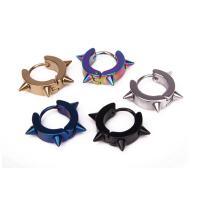 титан Основа для сережки, нержавеющая сталь подковка, Кольцевая форма, Другое покрытие, Мужская, 18x4mmuff0c9mm, продается PC