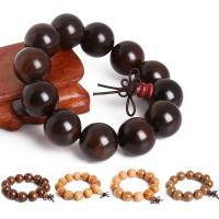 Деревянные браслеты, деревянный, с Нейлоновый шнурок, Другое покрытие, Эластичное & различные материалы для выбора & Мужский, 20mm, Продан через Приблизительно 7.5 дюймовый Strand