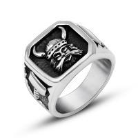 Пальцевидное Кольцо Титановой Стали, титан, Мужская & разный размер для выбора & чернеют, 16mm, продается PC