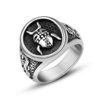 Пальцевидное Кольцо Титановой Стали, титан, Мужская & разный размер для выбора & чернеют, 16.5mm, продается PC