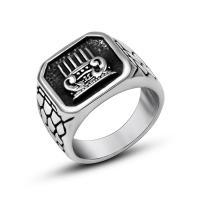 Пальцевидное Кольцо Титановой Стали, титан, Другое покрытие, Мужская & разный размер для выбора & чернеют, 15.5mm, продается PC