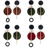 Асимметричные серьги, цинковый сплав, с деревянный, нержавеющая сталь гвоздик, плакирован золотом, Женский, Много цветов для выбора, не содержит свинец и кадмий, 10-39mm, продается Пара