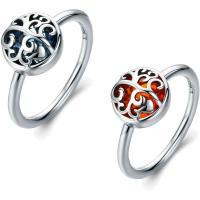 Cеребряное кольцо, Серебро 925 пробы, с Стеклянный, разный размер для выбора & Женский, Много цветов для выбора, 9x10mm, продается PC