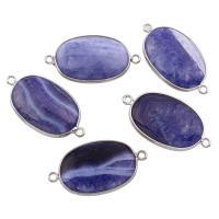 Агат соединитель, фиолетовый агат, с цинковый сплав, 1/1 петля, 39x21x8mm, отверстие:Приблизительно 2mm, 5ПК/сумка, продается сумка