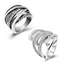 Модные кольца, цинковый сплав, Другое покрытие, разный размер для выбора & разные стили для выбора & Женский & со стразами, не содержит свинец и кадмий, продается PC