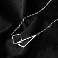 Серебряное ожерелье, Серебро 925 пробы, с 2Inch наполнитель цепи, Овальный цепь & Женский, 43x16mm, Продан через Приблизительно 15.7 дюймовый Strand