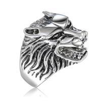 Модные кольца, цинковый сплав, Животное, Платиновое покрытие платиновым цвет, разный размер для выбора & Женский & чернеют, не содержит никель, свинец, продается PC