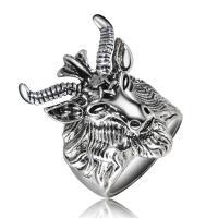 Модные кольца, цинковый сплав, Другое покрытие, Мужская & разный размер для выбора, не содержит никель, свинец, продается PC