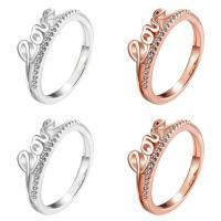 Модные кольца, цинковый сплав, слова любви, Другое покрытие, разный размер для выбора & Женский & со стразами, Много цветов для выбора, не содержит никель, свинец, продается PC