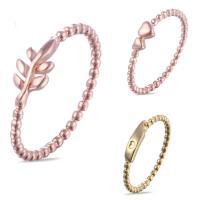 Кольца из латуни, Латунь, Другое покрытие, разные стили для выбора & Женский, не содержит никель, свинец, размер:8, продается PC