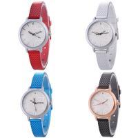 Искусственная кожа браслет для часов, с Стеклянный & цинковый сплав, Часы, Другое покрытие, Мужская & регулируемый & со стразами, Много цветов для выбора, не содержит никель, свинец, 35x7mm, длина:Приблизительно 9.2 дюймовый, продается PC
