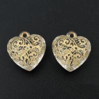 акриловые кулоны, Акрил, Сердце, 22x21x11mm, отверстие:Приблизительно 1.5mm, Приблизительно 230ПК/сумка, продается сумка