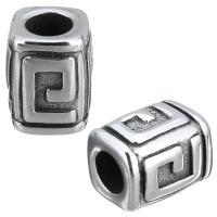 Европейские стильные бусины из нержавеющей стали, нержавеющая сталь, без Тролль & чернеют, 9.50x12x9.50mm, 10ПК/Лот, продается Лот