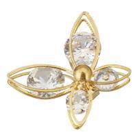 Ободок для волос, Латунь, бабочка, плакирован золотом, с кубическим цирконием, 26x20.50x11.50mm, 10ПК/Лот, продается Лот
