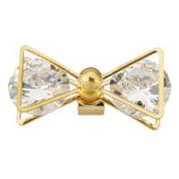 Ободок для волос, Латунь, бабочка, плакирован золотом, с кубическим цирконием, 26x12x11mm, 10ПК/Лот, продается Лот