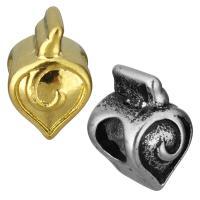 нержавеющая сталь бусины Европейская стиль, Сердце, Другое покрытие, без Тролль, Много цветов для выбора, 9x13x10mm, отверстие:Приблизительно 5mm, 10ПК/сумка, продается сумка
