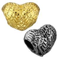 нержавеющая сталь бусины Европейская стиль, Сердце, Другое покрытие, без Тролль, Много цветов для выбора, 16x12.50x10mm, отверстие:Приблизительно 5mm, 10ПК/сумка, продается сумка