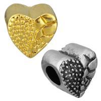 нержавеющая сталь бусины Европейская стиль, Сердце, Другое покрытие, без Тролль, Много цветов для выбора, 11x11x8mm, отверстие:Приблизительно 5mm, 10ПК/сумка, продается сумка