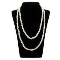 Ожерелье из ракушки, Белая ракушка, Мужская, белый, 7x5mm, Продан через Приблизительно 47 дюймовый Strand