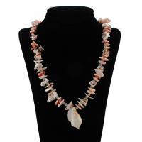 Ракушка Свитер ожерелье, Мужская, 25x40x21mm, длина:Приблизительно 27.5 дюймовый, 10пряди/сумка, продается сумка
