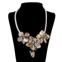 Ракушка Ожерелье, Мужская, 21x11mm, длина:Приблизительно 22 дюймовый, 10пряди/сумка, продается сумка